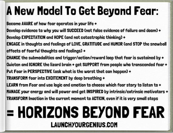 A new model to get beyond Fear