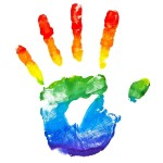 rainbow hand creativity