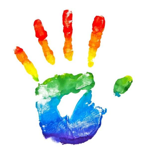 rainbow hand creativity