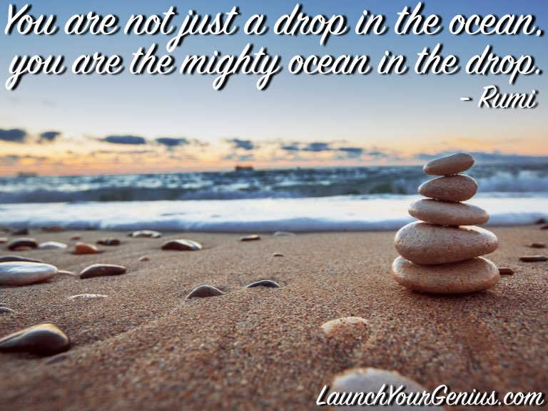 You are not just a drop in the ocean