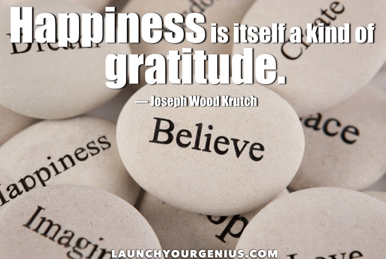 happiness is gratitude