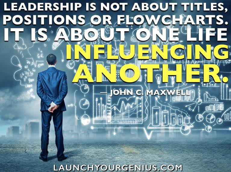 Leadership is inflencing others