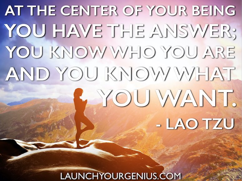 At the center of your being-Lao Tzu