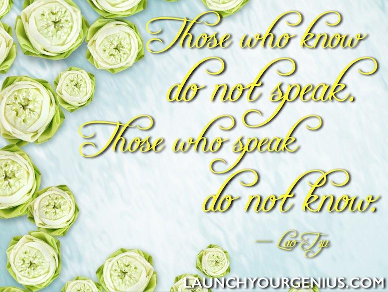 Those Who Know-Lao Tzu