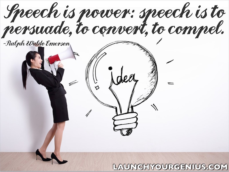 Speech is power