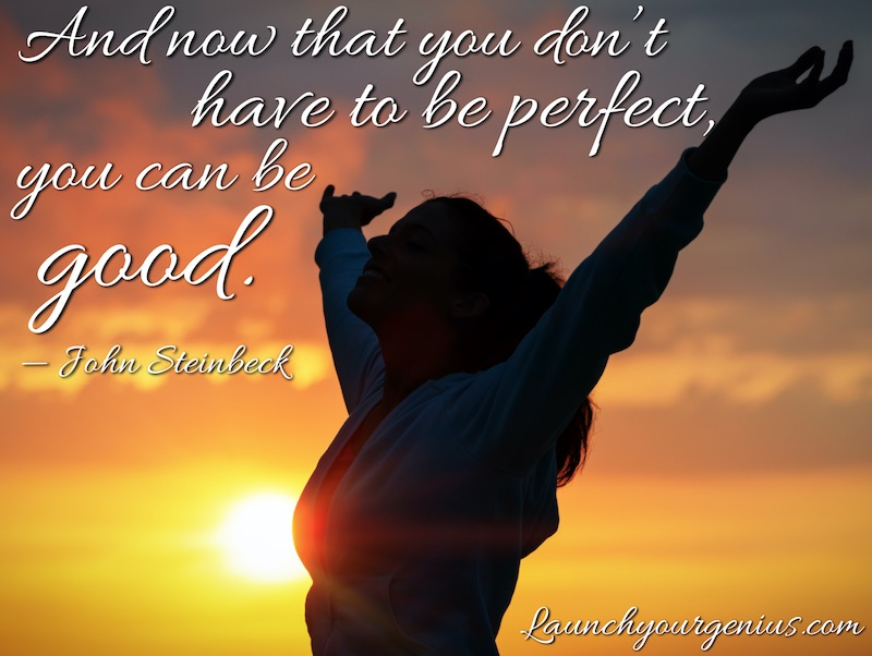 You do not have to be perfect, You can be good